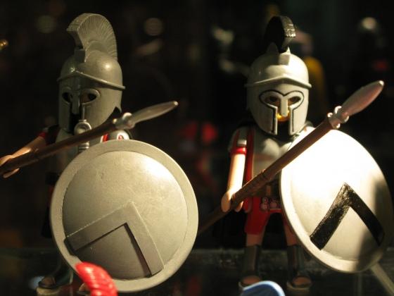 Figuras de coleccionista en una gran exposición de Clicks celebrada en Madrid - Foto: Commedia